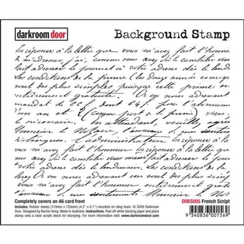Darkroom Door Background Stamp - French Script
