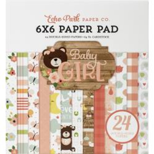 """Echo Park Double-Sided Paper Pad 6""""X6"""" 24/Pkg Baby Girl"""