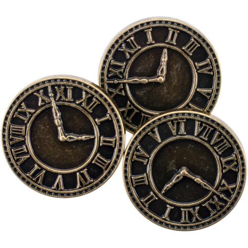 Blumenthal Steampunk Buttons 8 piece Clock Gold