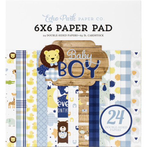 """Echo Park Double-Sided Paper Pad 6""""X6"""" 24/Pkg Baby Boy"""