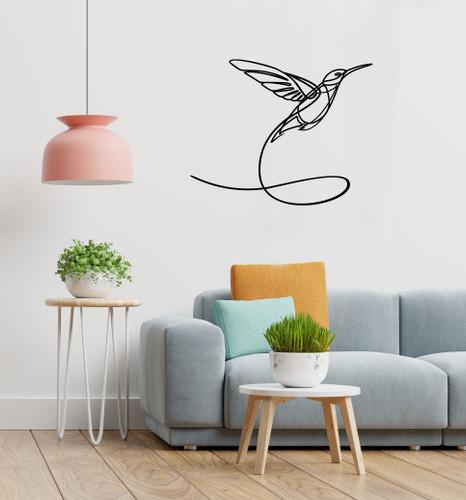 Lasercut Acrylic Wall Art - Hummingbird