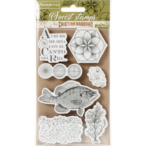 Stamperia Cling Rubber Stamps - Forest Fish