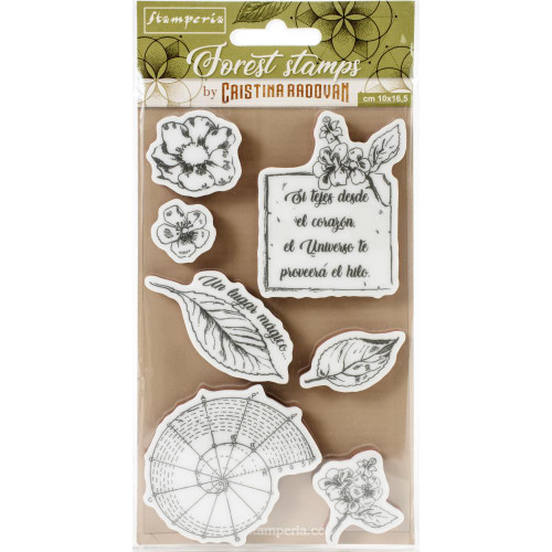 Stamperia Cling Rubber Stamps - Forest Botanical