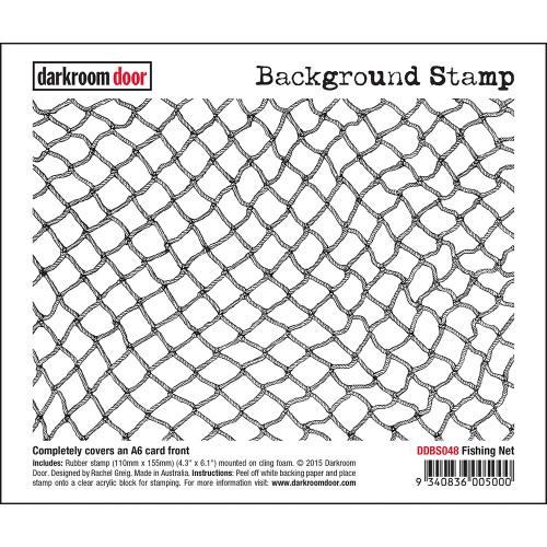 Darkroom Door Background Stamp - Fishing Net