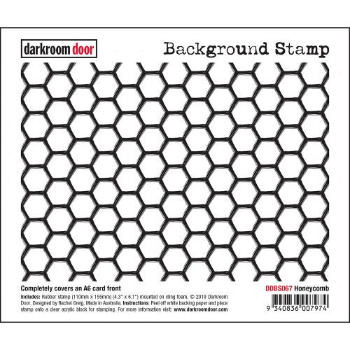 Darkroom Door Background Stamp - Honeycomb