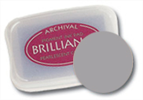 Brilliance Pigment Ink Pad - Starlight Silver