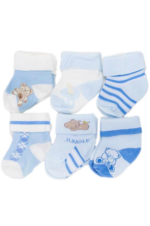 Baby Socks - EK80136_BL (6 Pairs)
