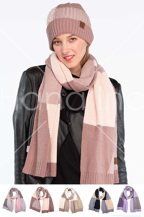 C.C KNIT SCARF-SF-2065