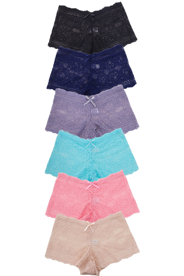 LACE SOLID PANTY-P2816 (12pc)