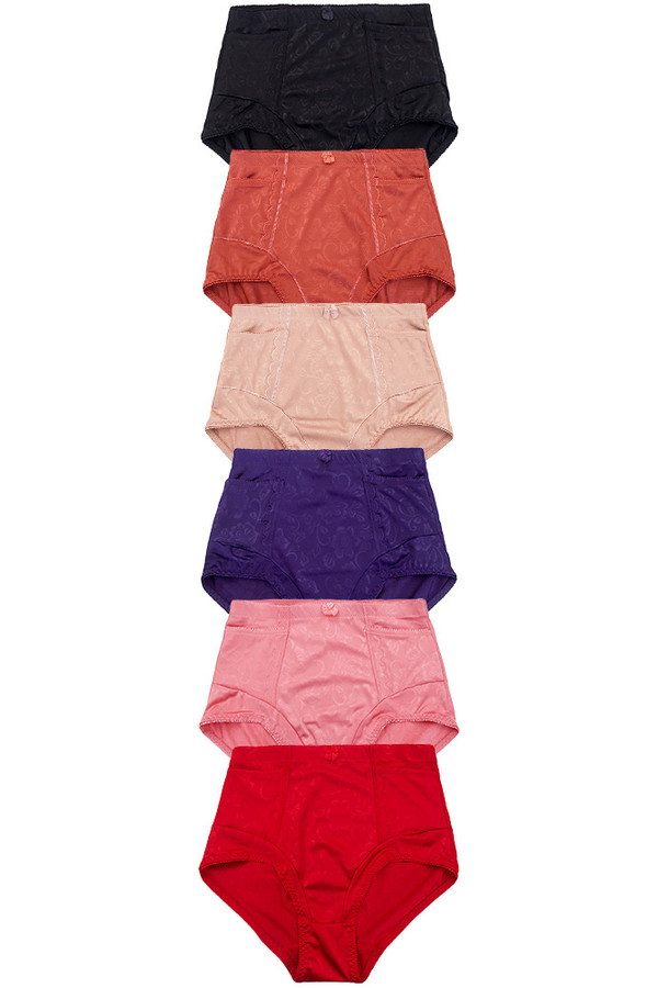 SOLID AND POCKET GIRDLE PANTY-69083 (12pc)