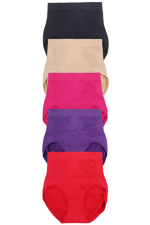 SOLID GIRDLE PANTY-6660 (12pc)