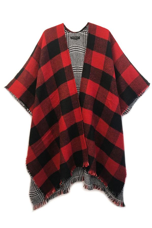 Reversible Plaid Kimono-YCK120135