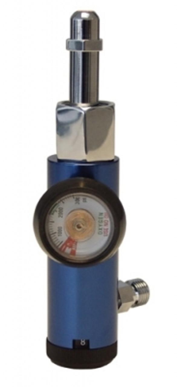 John Bunn Oxygen Regulator 0-8 LPM H-NUT STYLE W//GAUGE #JB0150-085