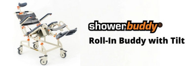 The Revolutionary Tilting Shower Chair: Showerbuddy's Roll-in Buddy with Tilt