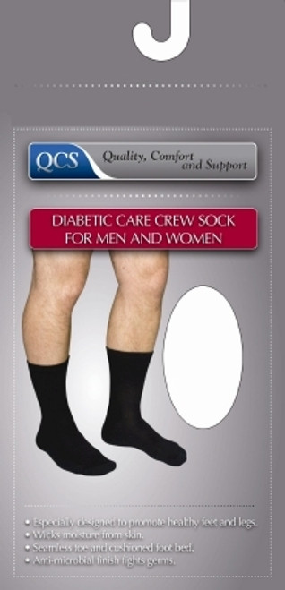 Diabetic Socks Crew Small Black