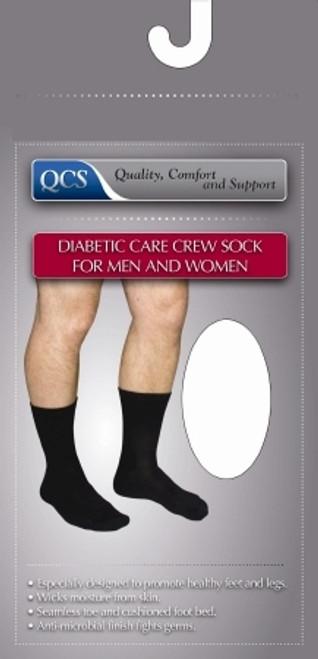 Diabetic Socks Crew Small White