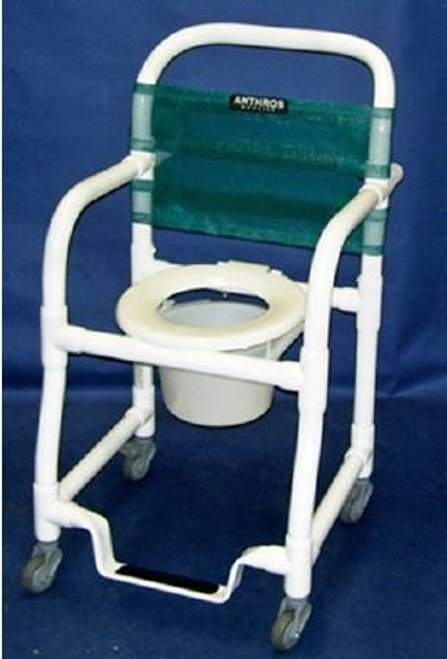"Shower Chair Commode, 21.5"" Seat"