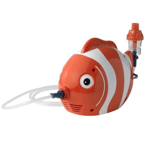 Drive Fish Compressor Nebulizer System Small Volume Medication Bowl Pediatric Aerosol Mask / Mouthpiece