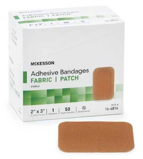 Adhesive Strip McKesson Fabric Rectangle Tan Sterile