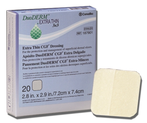 Hydrocolloid Dressing DuoDERMExtra Thin Square Sterile