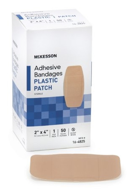Adhesive Strip McKesson Plastic Square Tan Sterile