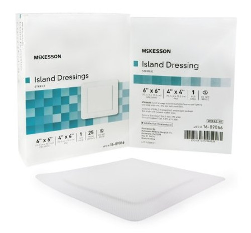 Adhesive Dressing McKesson Polypropylene  Rayon Square White Sterile