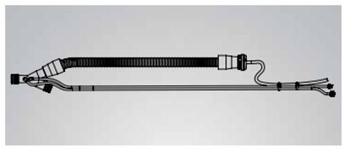 Wye & Expiratory Limb w/o PEEP, Reusable 22mm