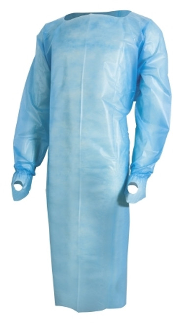 Over-the-Head Protective Procedure Gown McKesson One Size Fits Most Unisex NonSterile Blue