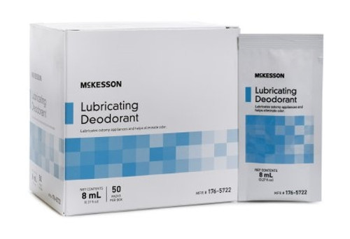Lubricating Ostomy Appliance Deodorant McKesson Lubricating, 8 mL., Packet, Unscented