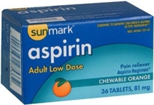 Sunmark¨ Aspirin Chewable Tablets
