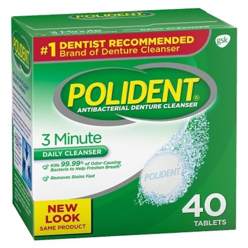 Denture Cleaner Polident Tablet