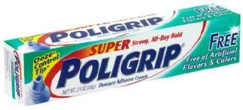 Denture Adhesive Super Poligrip Free Cream