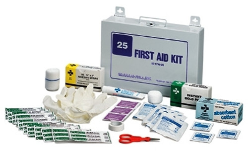 Metal Case First Aid Kit - 25 Person
