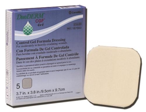 Hydrocolloid Dressing DuoDERMCGF Square Sterile