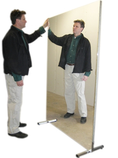 glassless mirror stationary with stand vertical