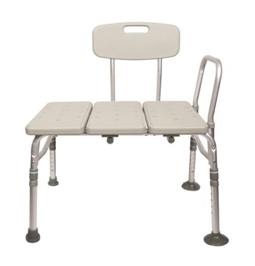 mckesson aluminum transfer bench reversible back