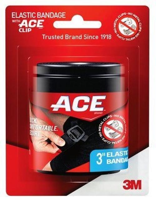 Elastic Bandage Width Medium Compression Attached Clip Closure Black