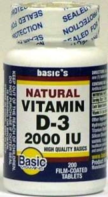 Vitamin D-3 Supplement Basic's 2000 IU
