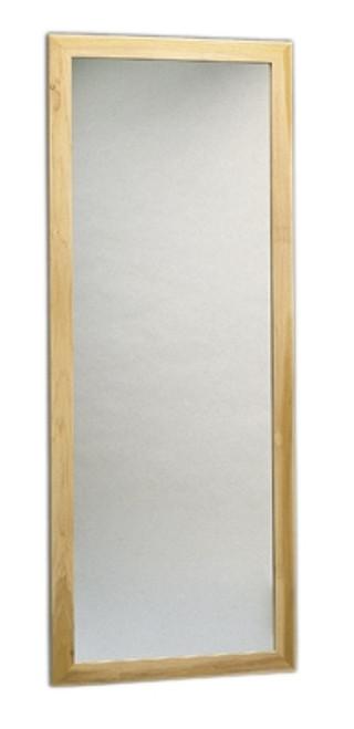 "glass mirror wall mount vertical 22"" w x 60"" h"