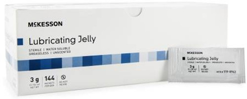 Lubricating Jelly McKesson 3gm Packet Sterile