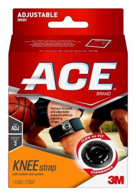 Knee Strap Ace Adjustable Hook and Loop Strap Left or Right Knee