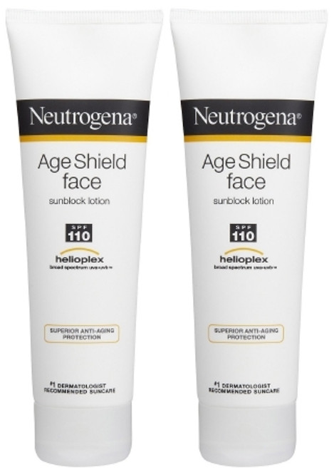 Sunscreen Neutrogena Age Shield Face SPF 110 Tube Lotion 3 oz.