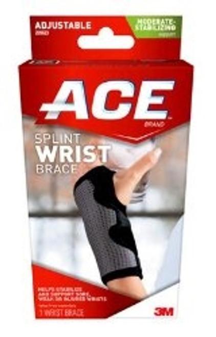 Wrist Brace ACE Adjustable Palmar Stay Wrist Gray One Size Fits Most