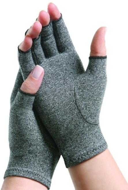 Arthritis Glove IMAK Compression Open Finger Small Over-the-Wrist Hand Specific Pair Cotton / Lycra