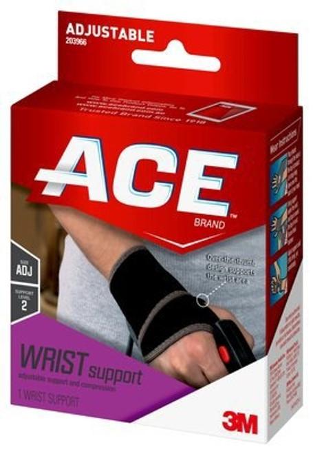 Wrist Support ACE Adjustable Neoprene Left or Right Hand Black