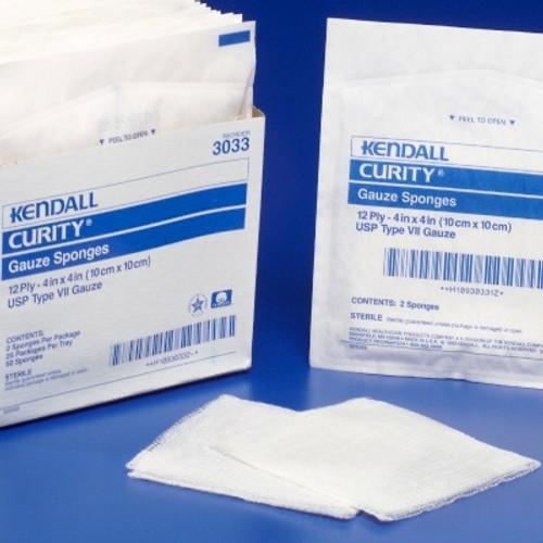 Gauze Sponge Curity Cotton Rectangle Sterile