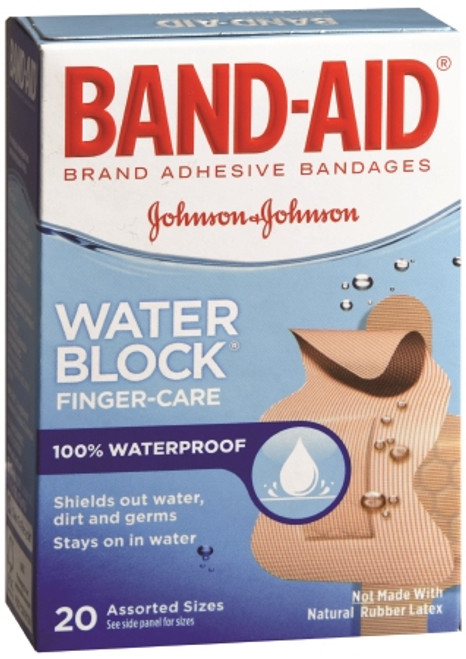 Adhesive Strip Band Aid Plastic Knuckle Fingertip Tan Sterile