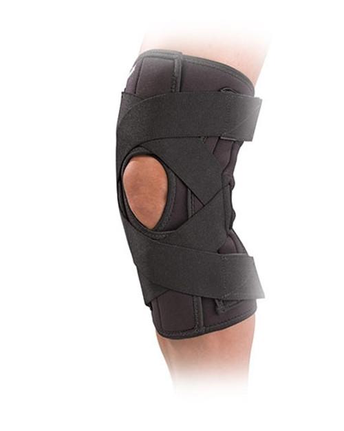 mueller wraparound knee brace deluxe black large