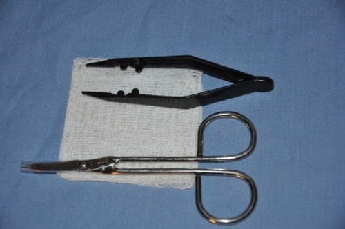 Suture Removal Kit with Plastic Forceps