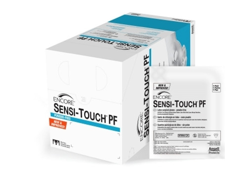 Surgical Glove Encore Sensi-Touch PF Sterile White Powder Free Latex Hand Specific Smooth Not Chemo Approved